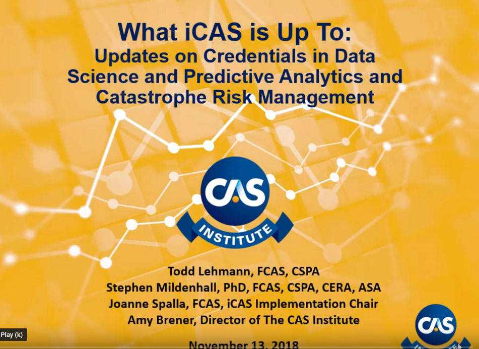 iCAS – The CAS Institute, or iCAS, is a subsidiary of the Casualty